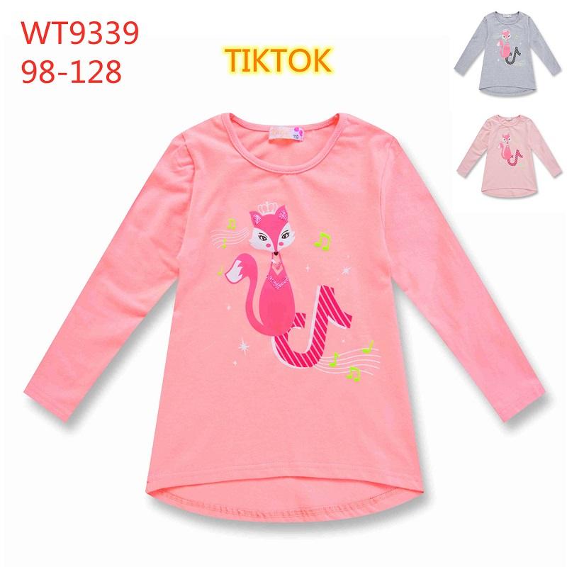 Dívčí triko  s  dlouhým rukávem TIK TOK  KUGO (98-128)