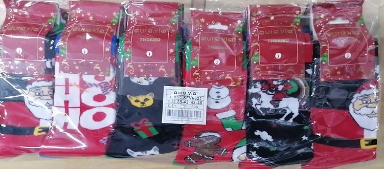 Pánské vánoční ponožky AURA VIA (39/42-43/56)