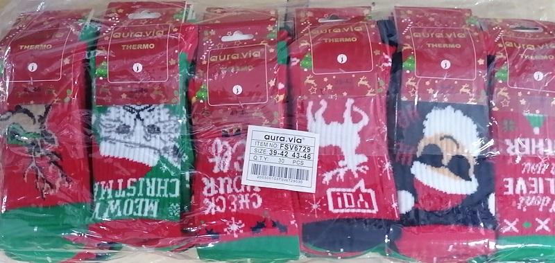 Pánské thermo vánoční ponožky AURA-VIA (39-46)