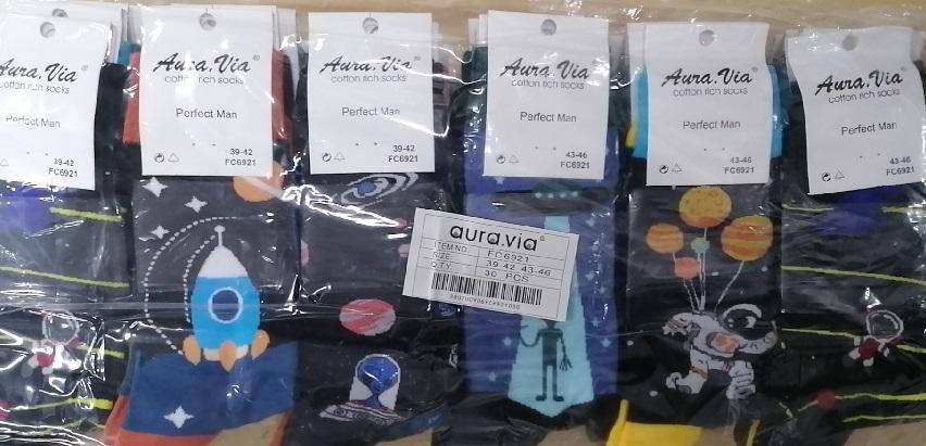 Pánské obrázkové  ponožky AURA-VIA (39-46)