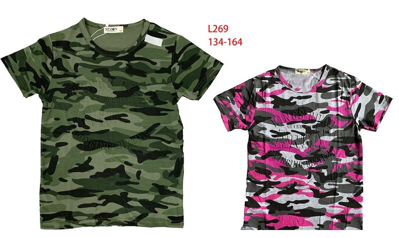 Chlapecké a dívčí  triko s krátkým rukávem SEZON (134-164)