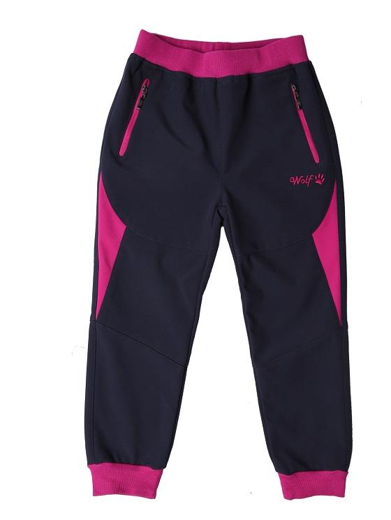 Dívčí softshellové kalhoty slabé WOLF (92-110)