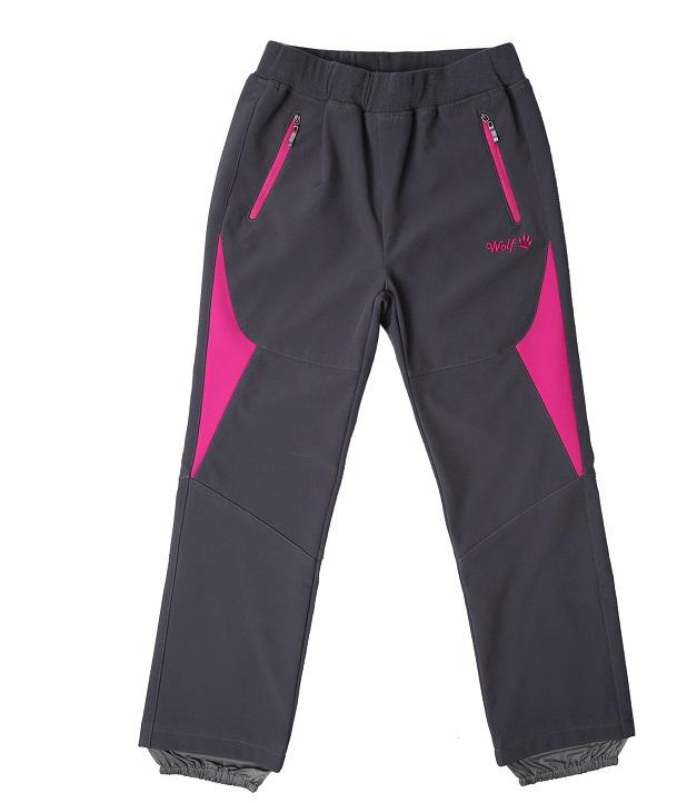 Dívčí softshellové kalhoty WOLF (116-146)