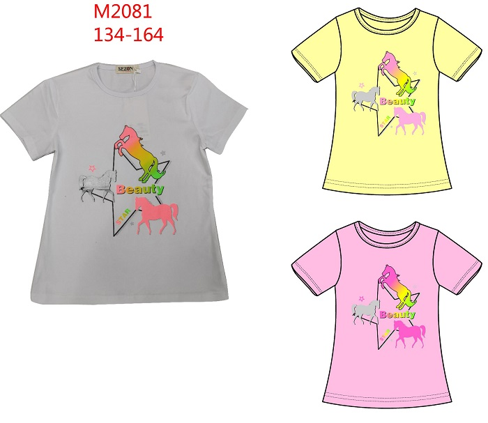 Dívčí triko s krátkým rukávem SEZON (134-164)