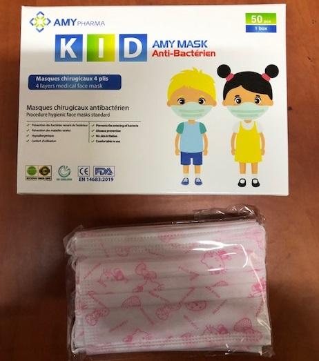 Dětská rouška  s obrázky antibakterialní