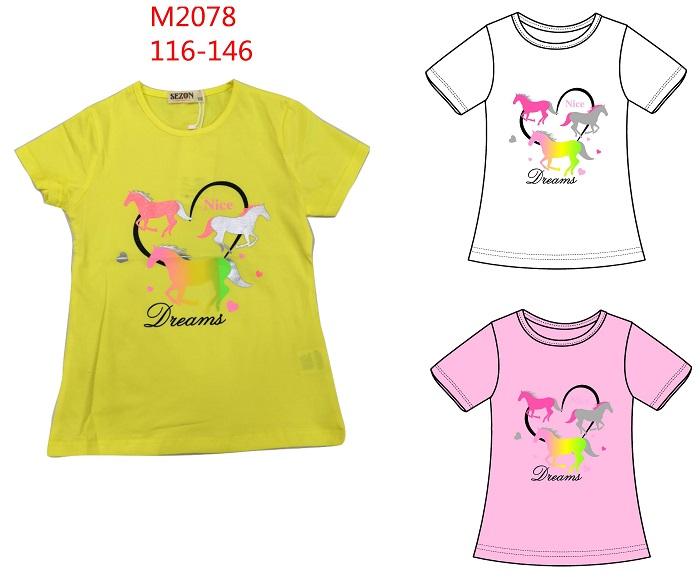 Dívčí triko s krátkým rukávem SEZON (116-146)