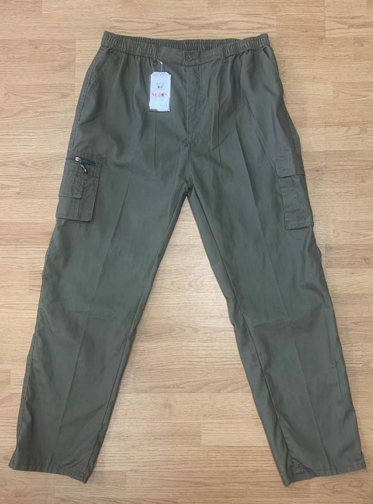 Pánské plátěné kalhoty SEZON (XL-4XL)