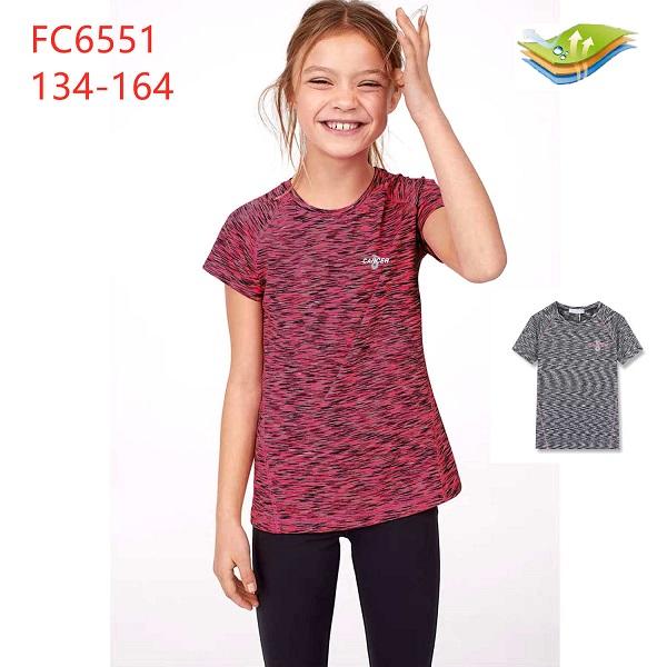 Dívčí funkční triko s krátkým rukávem KUGO (134-164)