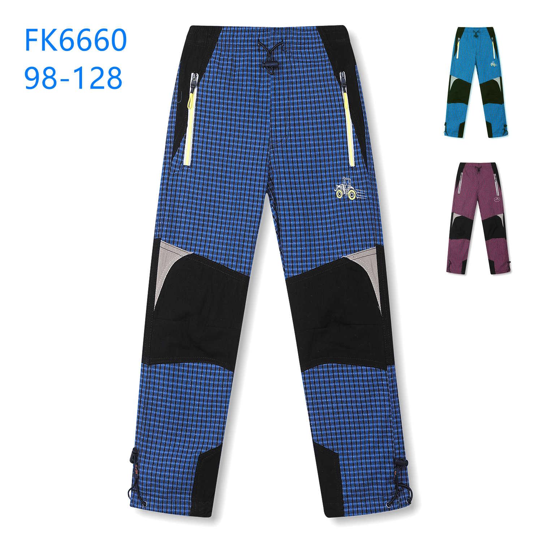 Dětské plátěné outdoorové kalhoty KUGO (98-128)