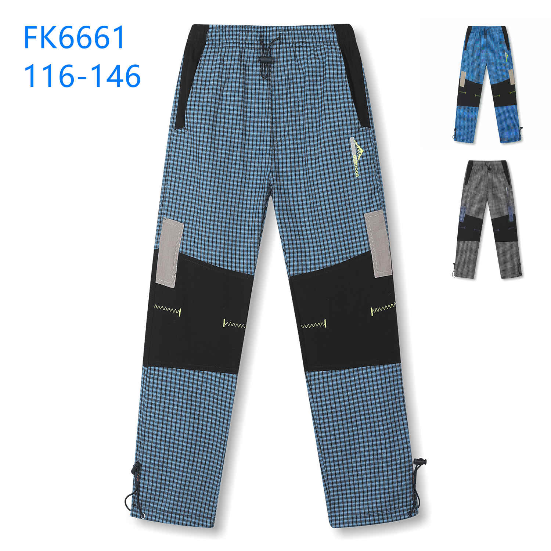Dětské plátěné outdoorové kalhoty KUGO (116-146)