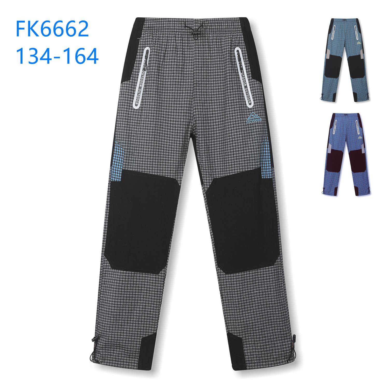 Dorostenecké plátěné outdoorové kalhoty KUGO (134-164)