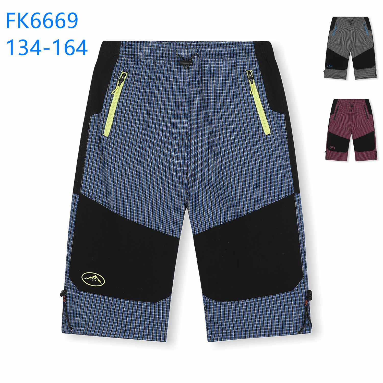 Dorostenecké 3/4 plátěné outdoorové kalhoty KUGO (134-164)