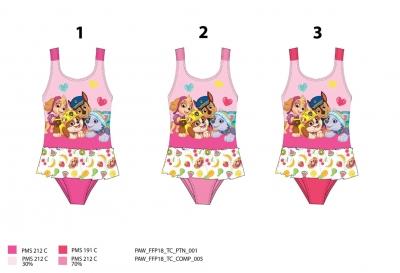 Dívčí jednodílné plavky PAW GIRL  (92-116)