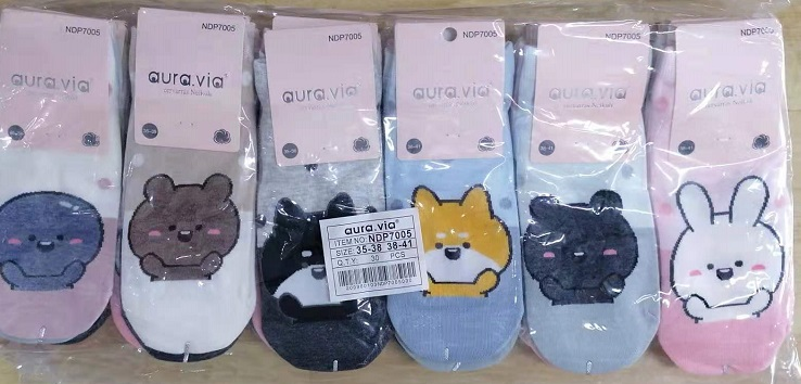 Dámské obrázkové kotníčkové ponožky AURA-VIA (35-41)