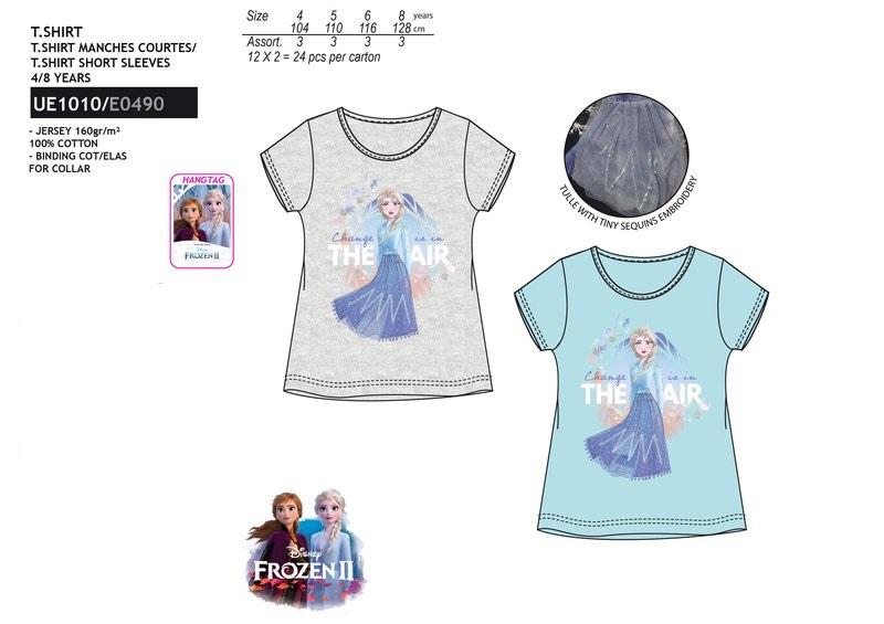 Dívčí triko s krátkým rukávem Frozen (104-128)