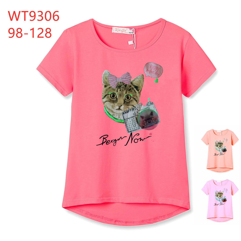 Dívčí letní triko s krátkým rukávem  KUGO (98-128)