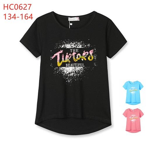 Dívčí letní triko s krátkým rukávem  KUGO (134-164)