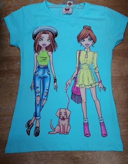 Dívčí triko s krátkým rukávem (98-128)