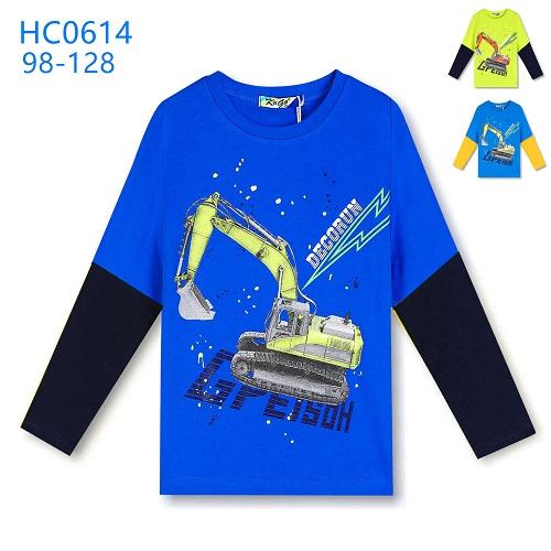 Chlapecké triko dlouhým  rukávem KUGO (98-128)
