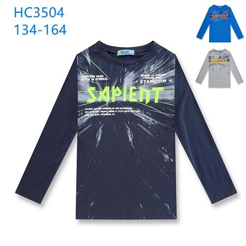 Chlapecké triko dlouhým  rukávem KUGO (134-164)