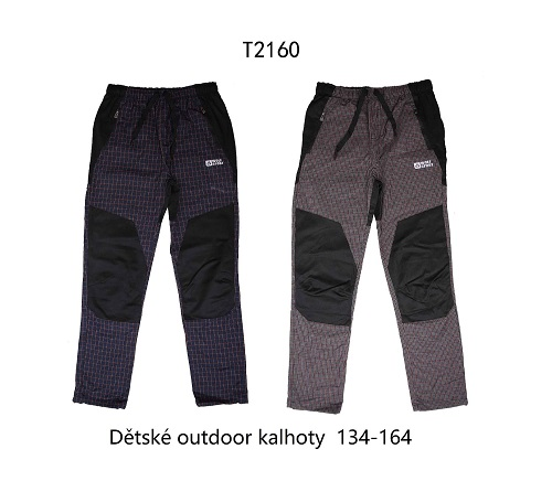 Chlapecké slabé outdoorové kalhoty WOLF (134-164)