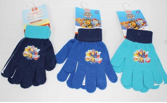 Chlapecké prstové pletené rukavice PAW (uni)