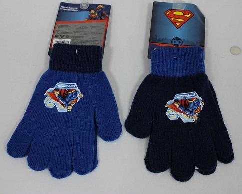 Chlapecké prstové pletené rukavice SUPERMAN (uni)