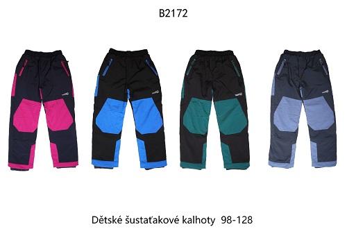 Dětské šusťákové kalhoty s fleecem  WOLF (98-128)