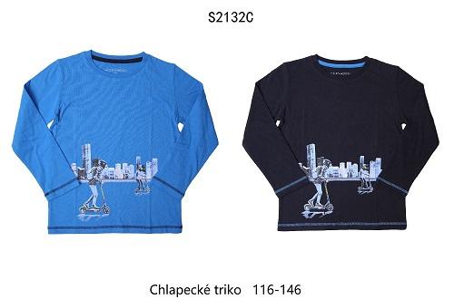 Chlapecké triko s dlouhým rukávem WOLF (116-146)