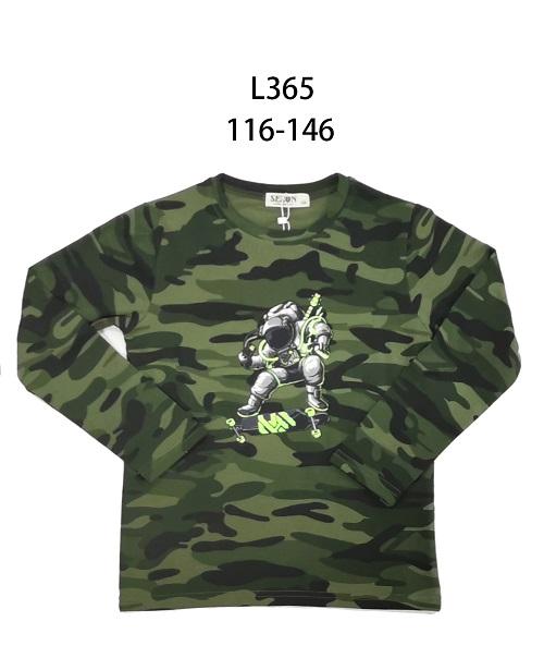 Chlapecké maskáčové triko s dlouhým rukávem  SEZON (116-146)