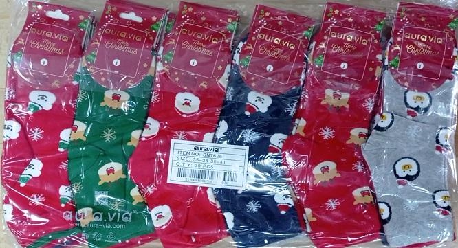 Dámské obrázkové vánoční ponožky AURA.VIA (35-41)