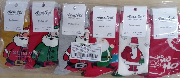 Pánské obrázkové vánoční ponožky AURA-VIA (39-46)