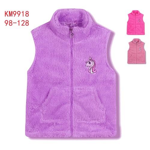 Dívčí fleccová vesta KUGO (98-128)