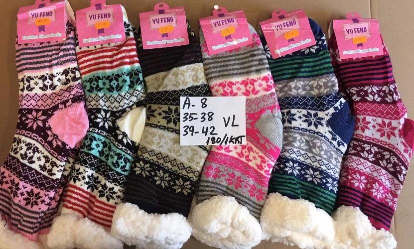 Dámské vánoční  thermo ponožky / bačkory AMZF (35-42)