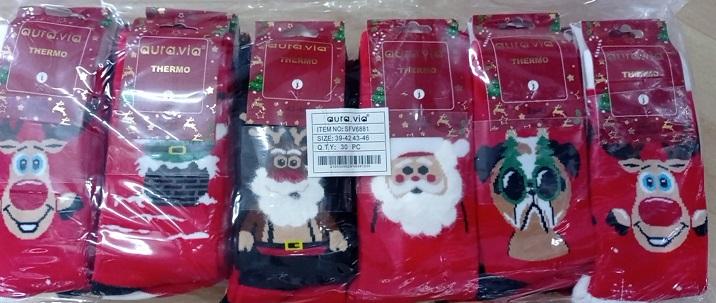 Pánské vánoční thermo ponožky AURA.VIA (39-46)