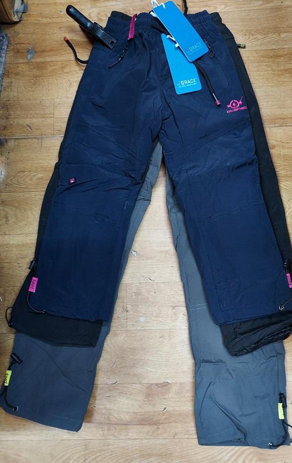 Zateplené šusťákové kalhoty GRACE (98-128)