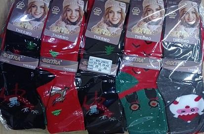 Dámské thermo vánoční ponožky BIXTRA (35/38-39/42)