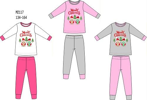 Dívčí vánoční noční pyžamo SEZON (134-164)