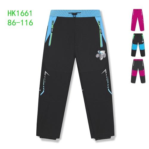 Dětské zateplené softshellové kalhoty KUGO (86-116)