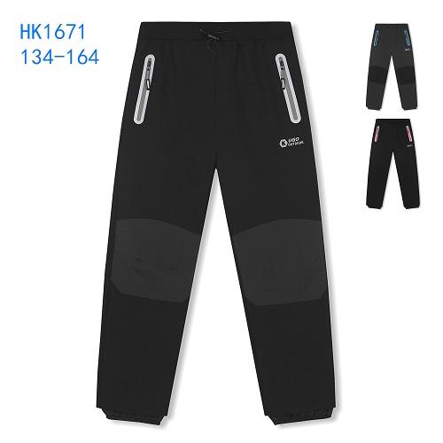 Dorostenecké teplé softshellové kalhoty KUGO (134-164)