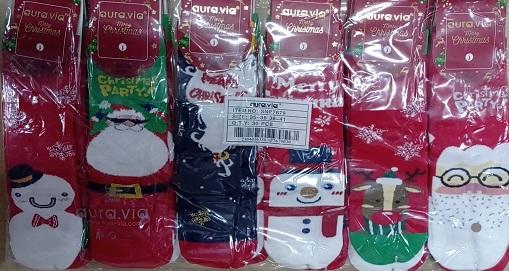 Dámské vánoční ponožky AURA.VIA (35-41)
