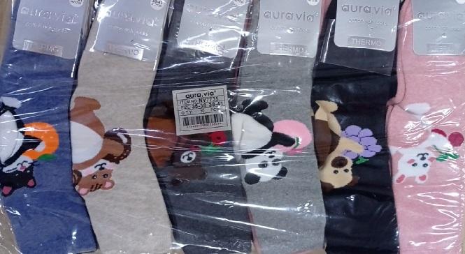 Dámské obrázkové ponožky AURA-VIA (35-41)