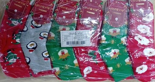 Dětské thermo vánoční ponožky AURA VIA (24/27-32/35)