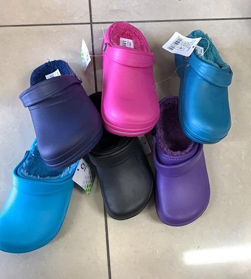 Dětské zateplené  gumové nazouváky (crocs) (30-35)