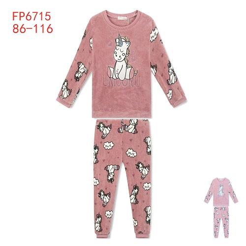Dívčí teplé  pyžamo KUGO (86-110)