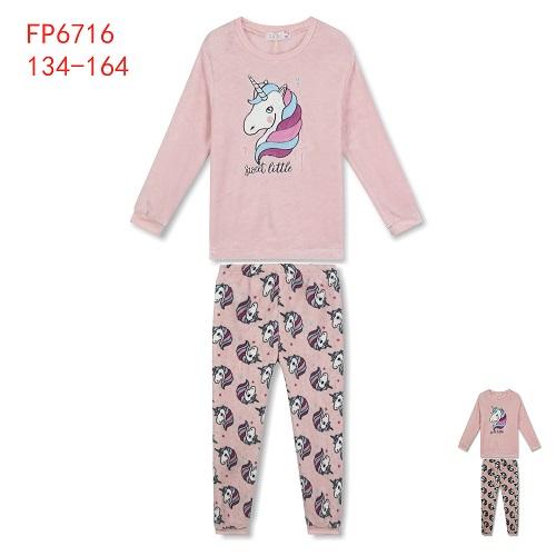 Dívčí teplé noční pyžamo KUGO (134-164)