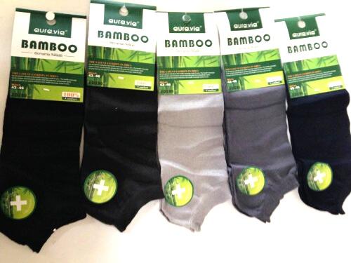 Pánské kotníčové bambusové ponožky AURA-VIA (39-46)