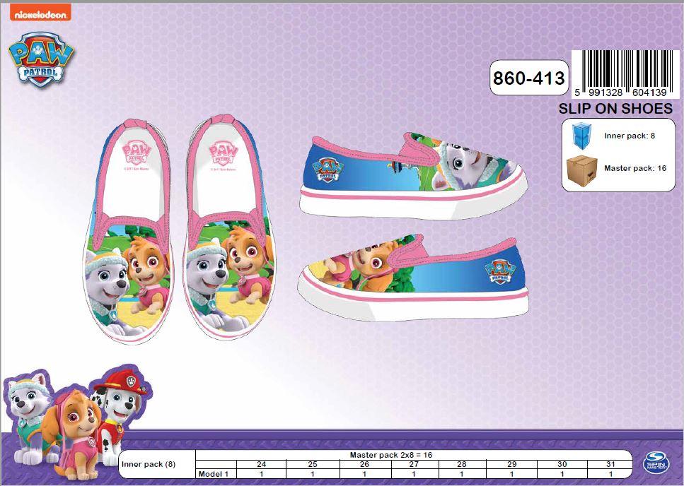 6cdc2771c95 Dívčí letní boty mokasíny PAW PATROL (24-31) empty