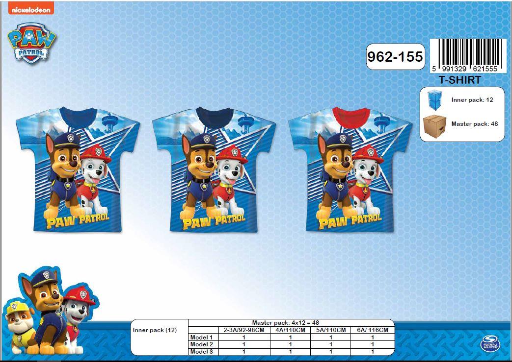 Chlapecké triko s kr.rukávem PAW PATROL (92 98-116) f8cb9f5cdc
