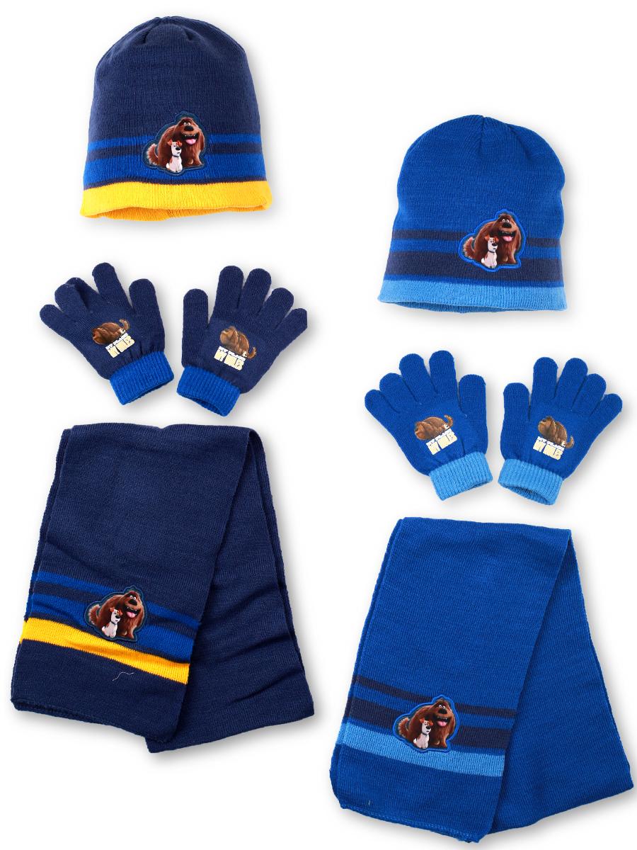 Chlapecká pletená souprava čepice a prstových rukavic a šály PETS sleva o  40% empty 9fd76fb8b6